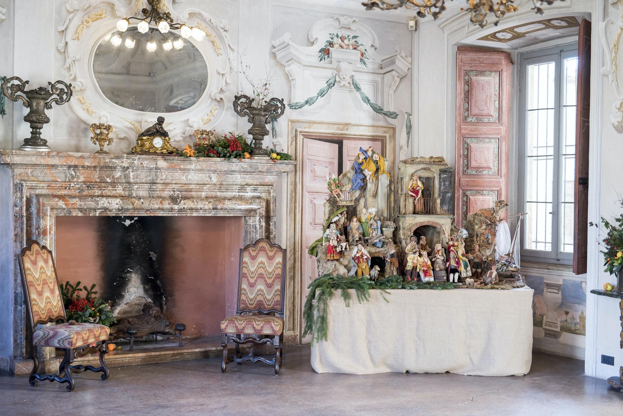 Il presepe a Villa Della Porta Bozzolo (Casalzuigno, VA)