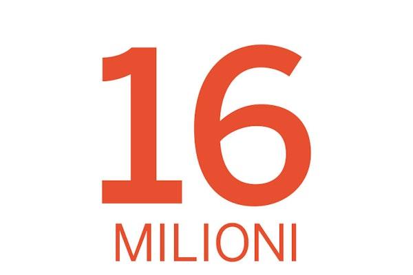16 milioni di Italiani
