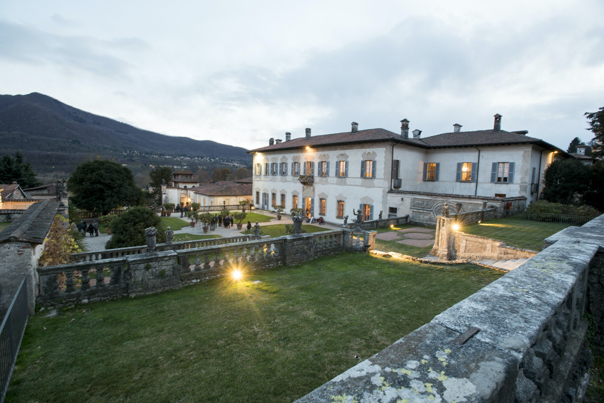 Villa Della Porta Bozzolo al tramonto