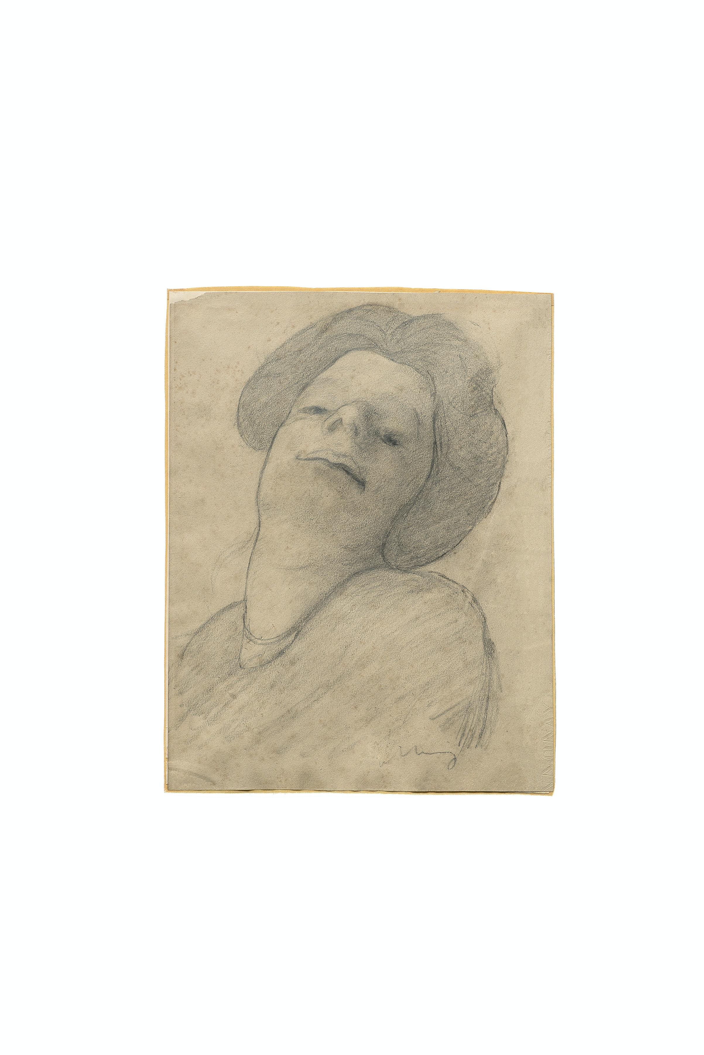"""Pietro Marusstig, """"Testa di donna"""", Collezione Sforni, Villa Necchi Campiglio (Milano)"""