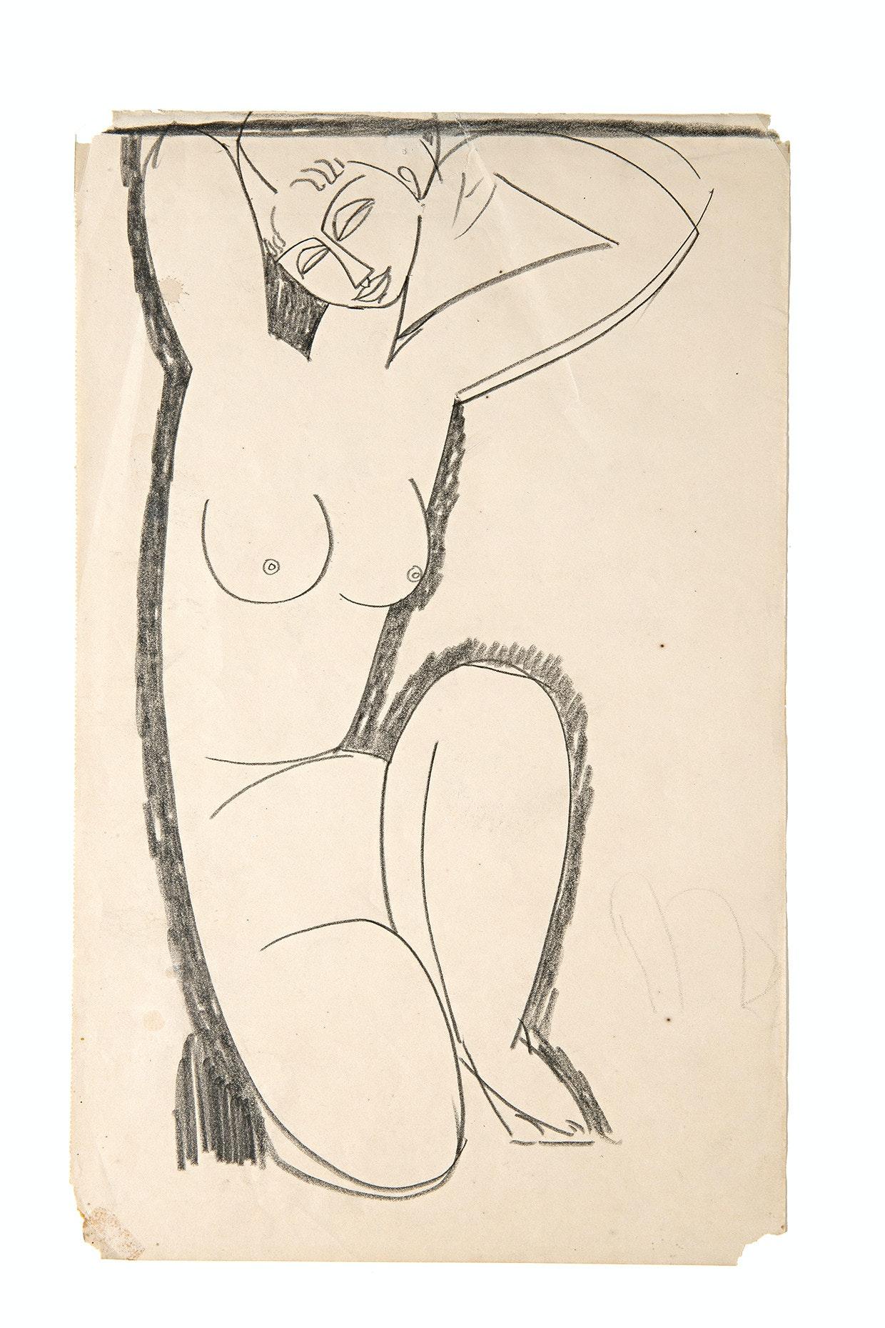 """Amedeo Modigliani, """"Cariatide"""", Collezione Sforni, Villa Necchi Campiglio (Milano)"""