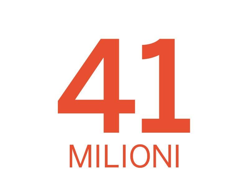 41 milioni di contribuenti