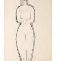 """Amedeo Modigliani, """"Nu de femme debout"""", Collezione Sforni, Villa Necchi Campiglio (Milano)"""