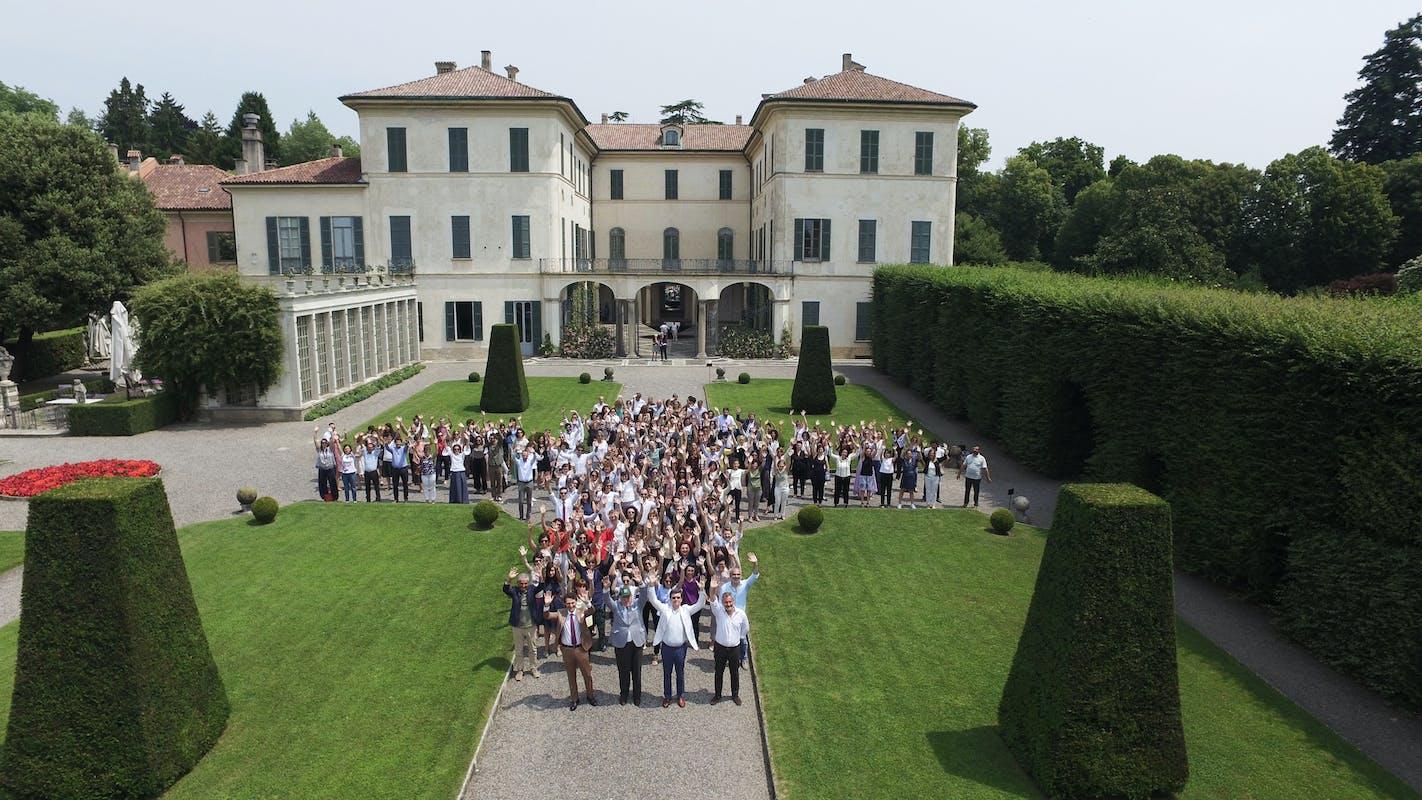 La nostra squadra a Villa Panza, Varese | ph. AreaFilm | © FAI – Fondo Ambiente Italiano
