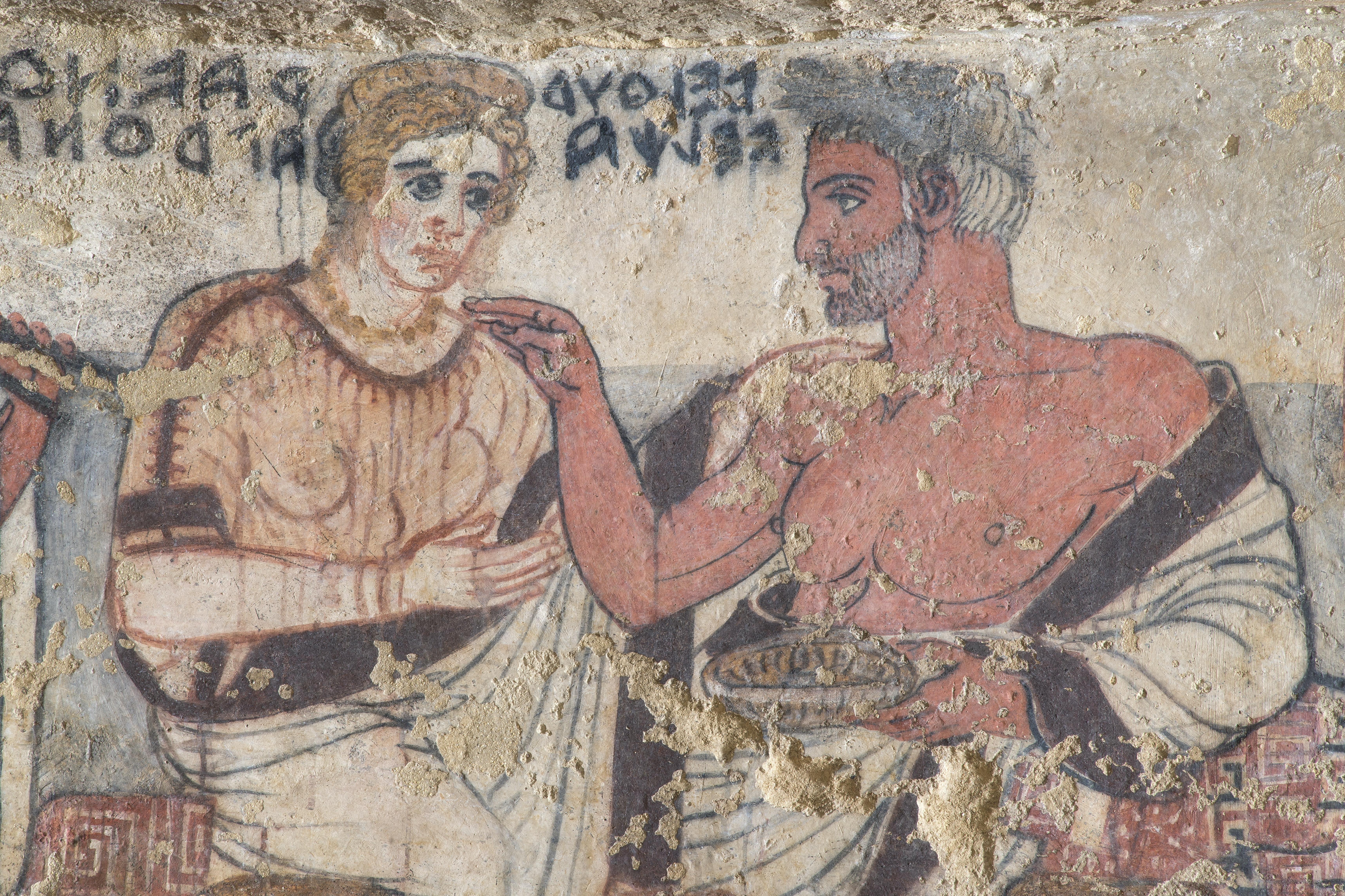 Torna a splendere la Tomba degli Scudi di Tarquinia (VT)